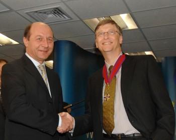 Traian Băsescu şi Bill Gates